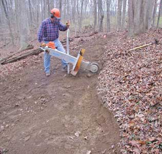 Bike trails with our stump grinder